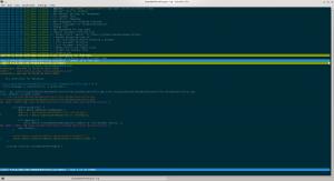 Capture d'écran du parcours d'un repository Git avec Tig